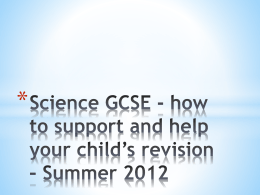 Science GCSE - how to help