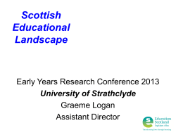 Graeme Logan Slides - University of Strathclyde