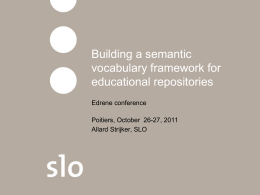 Building a semantic vocabulary framework for