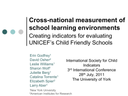 Cross-national measurement of school learning environments