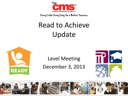 read to achieve - CMS School Web Sites