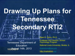 Drawing Up Plans – PowerPoint - Tennessee State Personnel