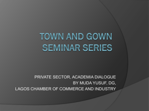 Private Sector, Academia Dialogue