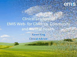 Clinical Engagement EMIS Web