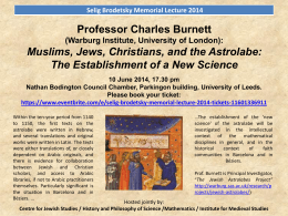 Brodetsky lecture poster with abstract