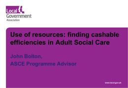finding cashable efficiencies in ASC John Bolton