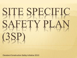 Site Specific Safety Plan (3SP) - Construction Employers Association
