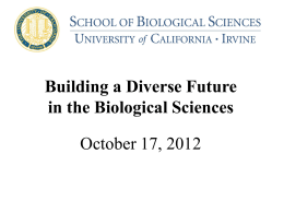Building a Diverse Future for the Biological Sciences