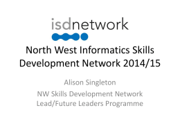 North West Informatics Skills Development Network