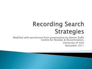 Recording Search Strategies (new window)