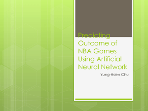 Predicting NBA games outcome Using Artificial Neural Network