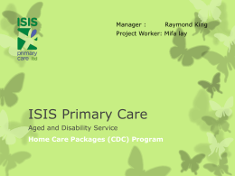 Home Care Packages (CDC) Program