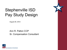 Employee Salary Presentation - Stephenville Independent School