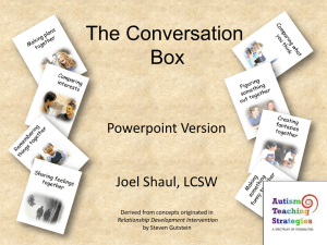 Conversation Box PowerPoint - Autism Teaching Strategies
