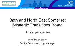 Transition Champion - Bath and North East Somerset Council