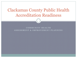Public Health Accreditation: What`s New in Oregon?