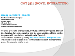 Cmt 3321 (Novel Interaction)