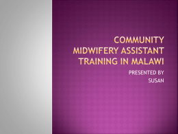 The Community Midwife Assistant Programme