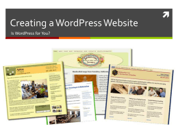 PowerPoint Presentation - Creating a WordPress Website