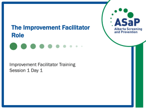 Who is an Improvement Facilitator