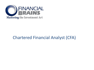 Chartered Financial Analyst (CFA®) - Financial