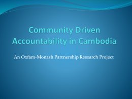 Community-driven Accountability in Cambodia: an Oxfam