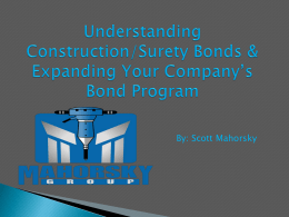 Understanding Surety Bonds - National 8(a) Association