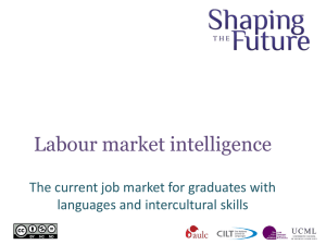 Labour Market Intelligence on Languages and Intercultural