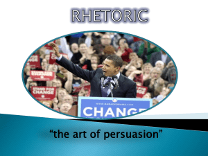The Art of Rhetoric: Ethos, Pathos and Logos