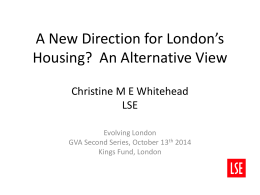A new direction for London`s housing