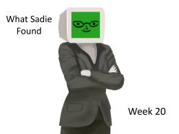 SADIE ppt - Comcast.net