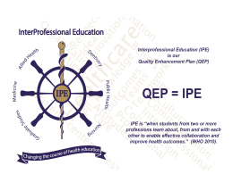 QEP Informational Powerpoint - LSU Health Sciences Center New