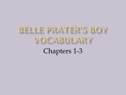 Belle Prater`s Boy Vocabulary