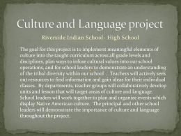 Culture and Language Project - Riverside Indian High School
