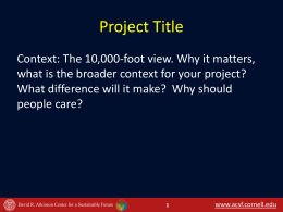 PPT Template - Atkinson Center for a Sustainable Future