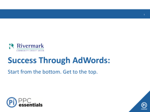 Success Through AdWords