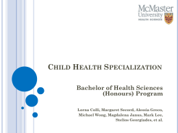 Child Health Specialization (CHS)