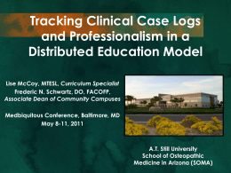 Tracking Clinical Case Logs and Professionalism in
