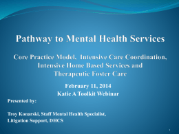 Pathways to Mental Health Services