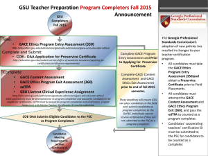 Program Completer Fall 2015