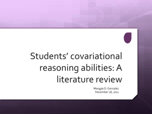Covariational Reasoning Literature Review