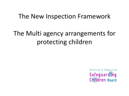 The proposed Inspection Framework