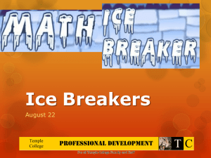 Math IceBreakers