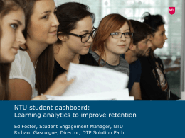 7.1 Foster and Gascoigne - NTU tutor dashboard: learning analytics