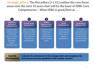 Strategic pillars: The five pillars (+1 CC) outline the core focus areas