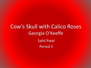 Cow`s Skull with Calico Roses-Sahil - Chapman-CWHS