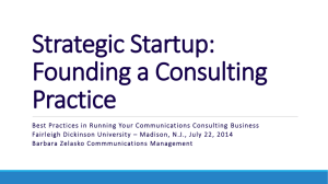 Best Practices in Running Your Communications Consulting Business