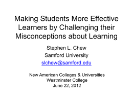 Making Students More Effective Learners by Challenging their