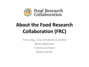 Food Research Collaboration