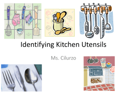 Identifying Kitchen Utensils
